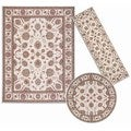 Nourison Persian Floral Collection Ivory 3-piece Rug Set (2'2 x 7'3) (5'3 x 5'3 Round) (7'10 x 10'6)