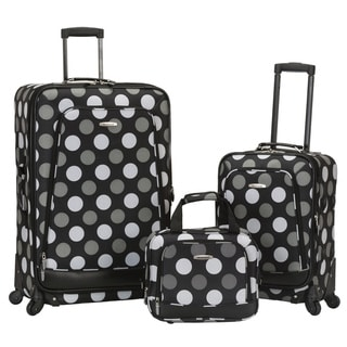 Rockland Deluxe Expandable 3-piece Spinner Luggage Set