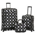 Rockland Black Dot Deluxe Expandable 3-piece Spinner Luggage Set