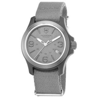 Victorinox Swiss Army Men's Original 241515 Grey Nylon Swiss Quartz Watch with Grey Dial