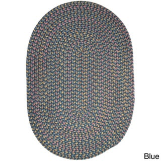 Bouquet Multicolored Braided Area Rug (5' x 8' Oval)