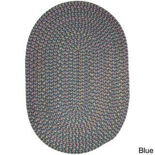 Rhody Rug Bouquet Indoor/ Outdoor Braided Oval Area Rug (5' x 8')