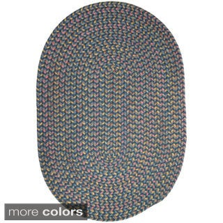 Bouquet Multicolored Braided Area Rug (7' x 9')