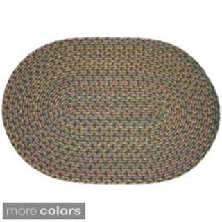 Bouquet Braided Area Rug (8 x 11 oval)