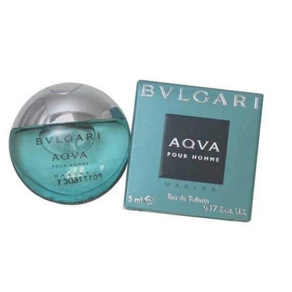 Bvlgari Aqva Marine Pour Homme Men's 0.17-ounce Eau de Toilette Miniature