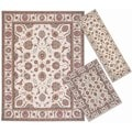 Nourison Persian Floral Collection Ivory Rug 3pc Set 2'2 x 7'3, 3'11 x 5'3, 7'10 x 10'6