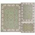 Nourison Persian Floral Collection Green Rug 3pc Set 3'11 x 5'3, 5'3 x 7'3, 7'10 x 10'6