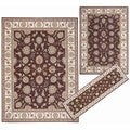 Nourison Persian Floral Collection Brown Rug 3pc Set 2'2 x 7'3, 5'3 x 7'3, 7'10 x 10'6