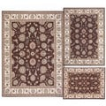 Nourison Persian Floral Collection Brown Rug 3pc Set 3'11 x 5'3, 5'3 x 7'3, 7'10 x 10'6