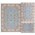 Nourison Persian Floral Collection Blue Rug 3pc Set 3'11 x 5'3, 5'3 x 7'3, 7'10 x 10'6