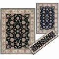 Nourison Persian Floral Collection Black Rug 3pc Set 2'2 x 7'3, 5'3 x 7'3, 7'10 x 10'6