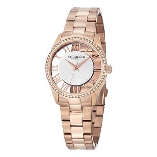 Stuhrling Original Women's Ciara Swiss Quartz Swarovski Crystal Stainless Steel Bracelet Watch