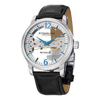 Stuhrling Original Men's Cardinal Mechanical Strap Strap Watch