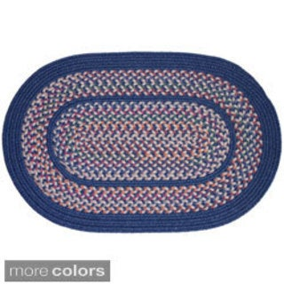 Tahoe Wool Blend Braided Oval Area Rug (10' x 13')