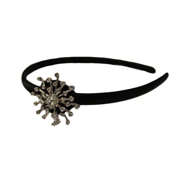 Sparkly Rhinestone and Black Satin Headband
