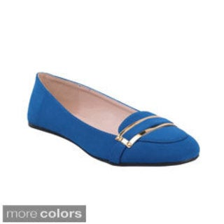 Bonnibel TORY-1 Women's Casual Comfort Flats with A Band around Front