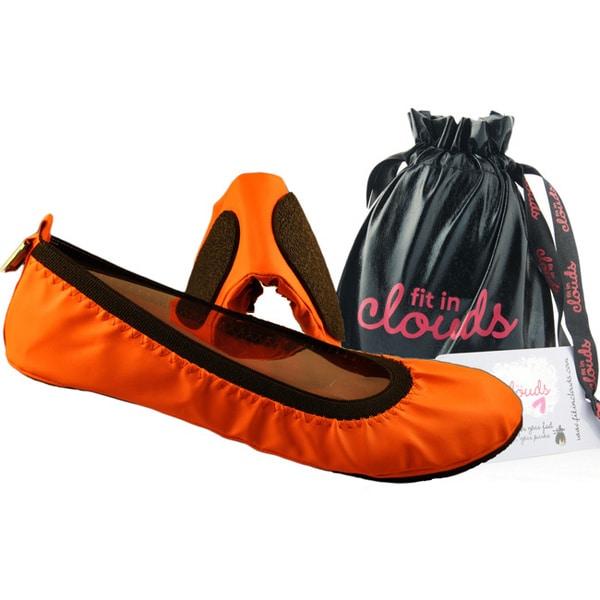 Women's Neon Tangerine Folding Flats