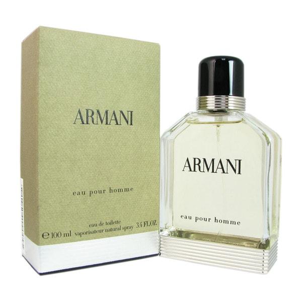 Giorgio Armani Eau Pour Homme Men's 3.4-ounce Eau de Toilette Spray