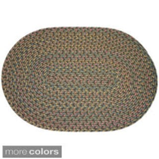 Bouquet Multicolored Braided Area Rug (10' x 13' Oval)