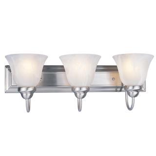 Z-Lite 3-light 60-watt Brushed Nickel Vanity Light