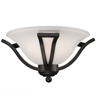 Z-Lite 1-light Black Matte Wall Sconce