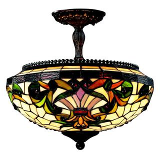 Z-Lite 3-light Chestnut Bronze Semi Flush Mount