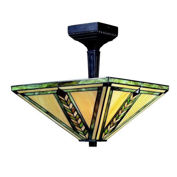 Z-Lite 2-light Semi Flush Mount Ceiling Light