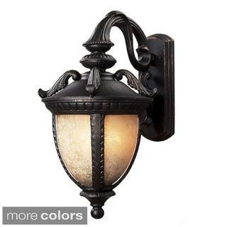 Z-Lite Amber Mottle Shade Outdoor Wall Light