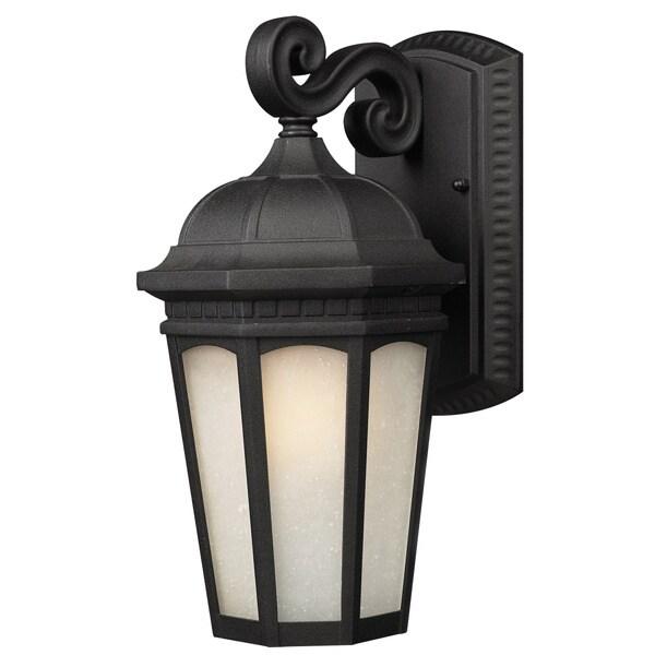 Z-Lite Large Black Aluminum Outdoor Wall Light