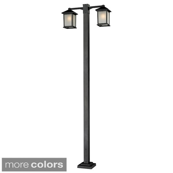 Z-Lite 2-headed Aluminum Outdoor Post