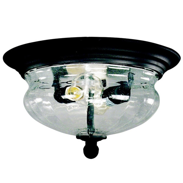 Z Lite Black Outdoor Flush Mount Light
