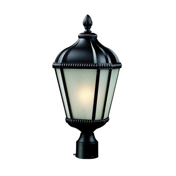 Z-Lite White Seedy Glass Outdoor Post Light