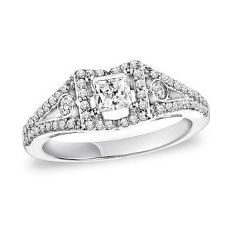 Cambridge 14k White Gold 7/8ct TDW Diamond Engagement Ring (I-J, I2-I3)