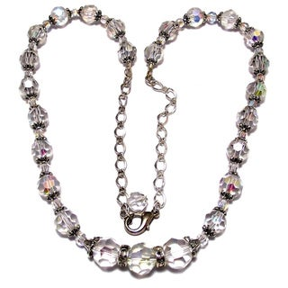 25-inch Clear Crystal Wedding Jewelry Set
