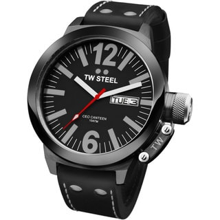 TW Steel Men's CEO Canteen Black Leather Automatic Watch
