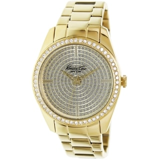 Kenneth Cole Women's Modern Core KC4957 Gold Stainless-Steel Quartz Watch with Gold Dial