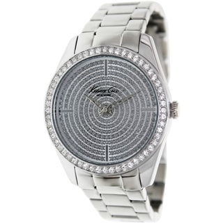 Kenneth Cole Women's Newness KC4959 Silver Stainless-Steel Quartz Watch with Silver Dial