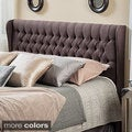 Christopher Knight Home Morris Queen Tufted Wingback Fabric Headboard