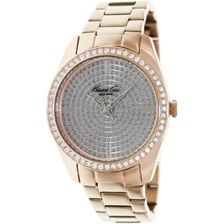 Kenneth Cole Women's KC4958 Rose-Gold Stainless-Steel Quartz Watch with Silver Dial