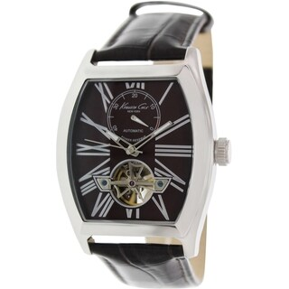 Kenneth Cole Men's Automatics KC1983 Brown Leather Automatic Watch with Brown Dial