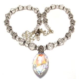 26-inch Clear Crystal Wedding Jewelry Set