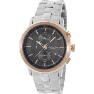 Kenneth Cole Men's KC9258 Silver Stainless-Steel Quartz Watch with Grey Dial