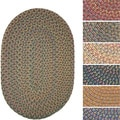Bouquet Multicolored Braided Area Rug (2' x 3' Oval)