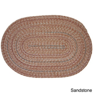 Duval Wool Blend Braided Area Rug (7' x 9' Oval)