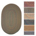 Bouquet Multicolored Braided Area Rug (2' x 4' Oval)