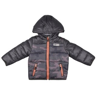 Carter's Boy's Hooded Camo Print Bubble Coat