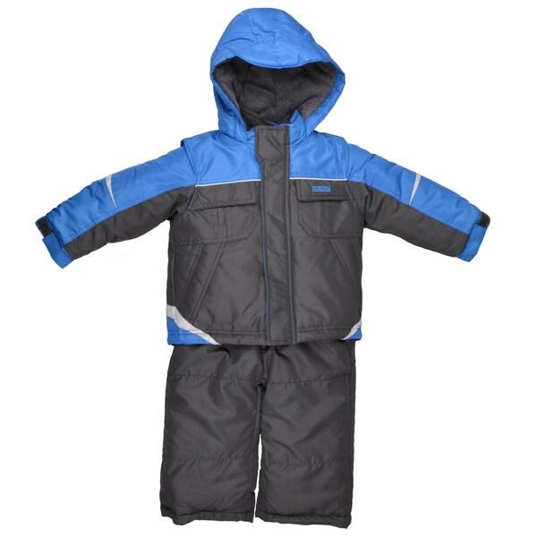 Osh Kosh Boy's Hooded Fleece Lined 2-pc Snowsuit