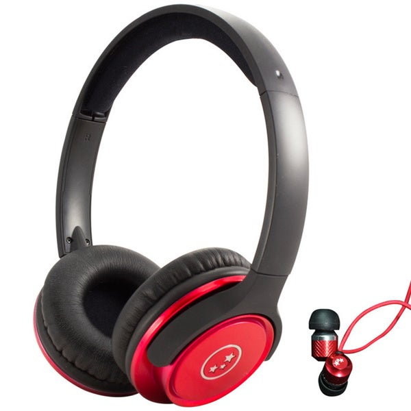 Able Planet Stereo Headphones with Isolation Earphone Bundle