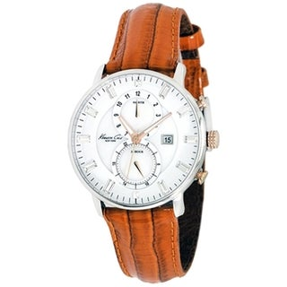 Kenneth Cole Men's Newness KC2710 Orange Calf Skin Quartz Watch with Silver Dial