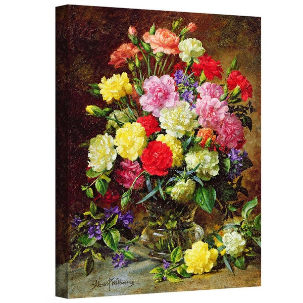 Art Wall Albert Williams 'Carnations of Radiant Colours' Gallery-Wrapped Canvas